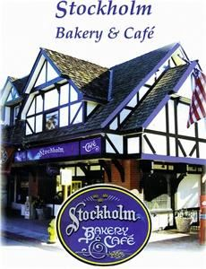 Stockholm Bakery & Cafe, Kingsburg — Stockholm Bakery & Cafe is known for it's delicious gourmet cakes,  imported specialty foods and rich European  roasted coffees. We bake  fresh to order  traditional Swedish cakes and torts, cardamom  breads, hand  decorated  cookies  and fancy petit fours, coffee cakes, rolls, danishes  and  much  more. Our most popular items are our mouth watering croissants, had  decorated  cookies,  gourmet chocolate torts and pastries and our delightful fresh fruit cakes available any time of the year. Our restaraunt is available for private parties and Catering is available.