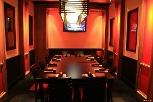 Board Room, Sushi Rock - Columbus, Columbus — Seats 12-16 guests, flat screen tv, music volume controls, catering menu, on-site catering manager.