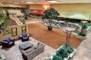 Atrium, Ramada Plaza Hotel & Conference Center, Denver — With the capacity to accomdate up to 960 guests, this beautifully, newly renovated section of the hotel features an indoor rock waterfall and tranquil pond. Perfect for ceremonies,receptions or post wedding brunches.