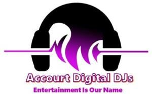 Accourt Digital DJ's, Rockford — Accourt Digital DJ's Business Card Front