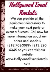 Hollywood Event Rentals
