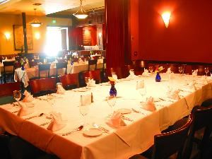 Red Room, Mario's Place Restaurant, Riverside — Red seats 15 to 28 guest.