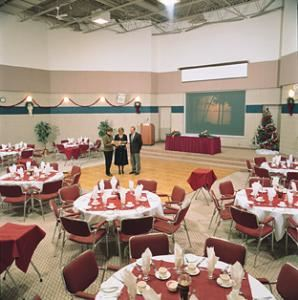Centre Hall, Kempenfelt Conference Centre, Barrie, Innisfil — 48' x 37', 1776 sq. ft., 20' ceilings