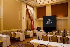 Elizabeth A, B, C, Hilton Newark Airport, Elizabeth — With 18' ceilings and unlimited AV capabilities our Ballroom Sections are the perfect venue for mid to larger size conference space needs
