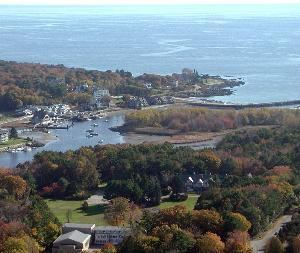 Entire Facility, Franciscan Guest House, Kennebunk — Aerial View of property