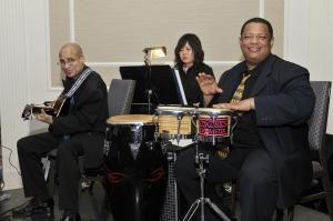 CAMELIA LATINJAZZ Trio Quartet Quintet, Cambridge — CAMELIA LATINJAZZ TRIO @ a private wedding.