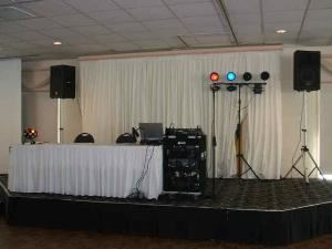Masquerade DJ & Karaoke Services, Indianapolis — This is our most basic setup for a private party or wedding.