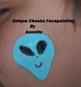 Unique Cheeks Face Painting