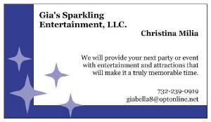 Gia's Sparkling Entertainment, LLC., Englishtown