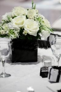 Cecibelle GlamEvents, Jersey City — Simple white Centerpiece