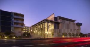 Oshman Family Jewish Community Center, Palo Alto — •	Our Cultural Arts Hall includes a complete 400 seat theatre with retractable seating, dressing rooms, lighting and sound booth. Various Floor configuration options when the seats are retracted.