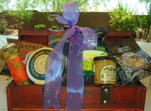 Gift Basket Occasions and More LLC - Phoenix, Phoenix — Gift basket shown here is a great example of a gift you may give for guests hotel rooms that maybe coming in for a wedding or conference.