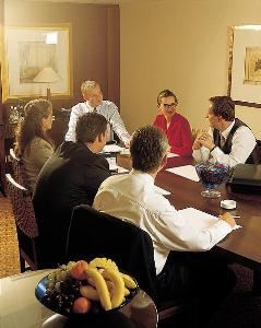The Boardroom, The Residence Inn Cape Canaveral, Cape Canaveral — This likeness of what the boardroom will look like, accomidating up to 8 people.