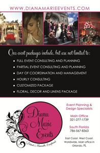 Complete Wedding Planning & Coordination (For Guest Lists of 75-100 People), Diana Marie Events, Orlando — Postcard