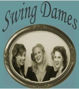 Swing Dames, Encino — Swing Dames is a close harmony female trio. Step back into the 40's with the timeless music of the Andrews Sisters and similar groups of that era. Our combination of dynamic vocals, stylish choreography, sophisticated costumes, toe tapping up- tempos, dreamy ballads and witty repartee all combine to transport you back in time for an experience you will never forget. Timeless classics such as 'Boogie Woogie Bugle Boy' and 'Don't Sit Under the Apple Tree' are adored by audiences of all ages. Swing Dames is a great addition to any event! 