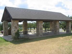 Picnic Areas, Camp Loughridge, Tulsa — Shane's Place picnic pavilion adjacent to the Ball Diamond (up to 48 persons).