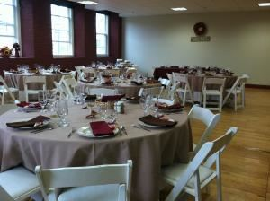 Room # 18-224, North Dam Mill Events Center and Banquet Facility, Biddeford — This room is perfect for groups of 10 to 60.  Great for receptions, business meetings, showers, and seminars.