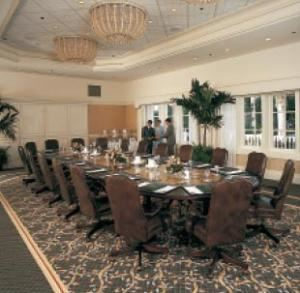 Palm Beach Boardroom, Disney's Grand Floridian Resort & Spa, Orlando — From executive retreats to board of director meetings, the Palm Beach Boardroom combines classic Victorian décor with modern-day amenities. This one-of-a-kind setting provides 15 high-back leather chairs around an opulent marble table.
