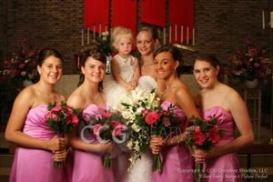 Silver Wedding Photography Package, CCG Creative Studios LLC, Champlin — The Bride and Her Girls