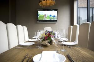 Private Dining Room, Tiato Kitchen Bar Garden + Venue, Santa Monica — From 12-20 guests, Tiato's private dining room makes for the perfect intimate dinner or business meeting.  Our Santa Monica venue has the largest outdoor dining area on the westside independent of a hotel.