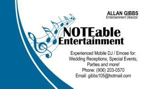 NOTEable Entertainment, Sault Ste Marie