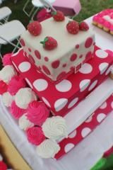 LaNell Designs, Los Angeles — Strawberry Shortcake Cupcake Tower...by LaNell Designs