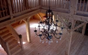 Rosaleda Farm, Pottstown — A view from the loft looking down onto the dance floor.