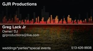 GJR Productions, Fairfield — For those special moments at your Wedding Reception..............