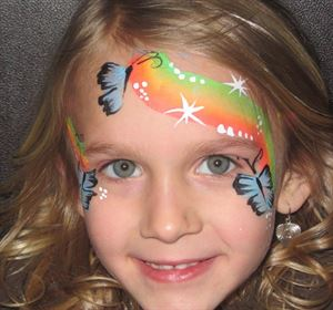 Paint and Party, All Star Jump, Spokane — face painting design