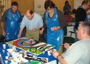 Corporate Team Building Mural Event, the pARTy studio, Columbus — Corporate party