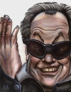 Bill's Caricatures, Jacksonville — This is a detailed illustrative caricature of Jack Nicholson.  This type of sketch is great for gifts.