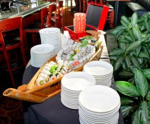 Afternoon Bridal or Baby Shower, Special Occasion, Birthday  or Meeting Menu, Pavilion Grille, Boca Raton — Chef's Signature Sushi Boat