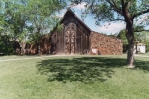 Stone and Cedar Barn, Harn Homestead Museum And 1889er Museum, Oklahoma City — This 3,000 sq' rock and cedar Barn can seat 200 guests comfortably.  It is heated in the winter while all three stories of doors open in the spring for a nice breeze.