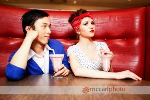 Makeup Services, Cambridge — This was a great photo shoot done with Mccarl Photography in a 50's type style at a Diner on Hespeler Road in Cambridge.
