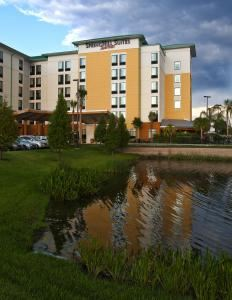 SpringHill Suites Orlando at Seaworld, Orlando — Located near the Orlando Convention Center, SeaWorld and adjacent to Aquatica, this International Drive hotel allows guests access to top area attractions.