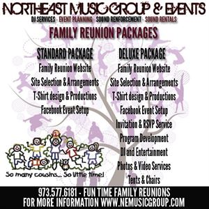 Family Reunion Package, NEM Events - Serving the NY/NJ/CT Tri-State Area — fr