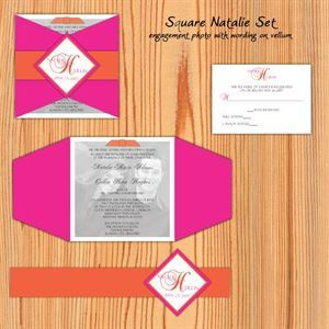 Custom Wedding Invitation Suite Design, Kari Lind Creations, Overland Park