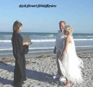Wedding Officiant, Customized Ceremony, Reverend Teresa Dyer, Titusville — Beach Officiant