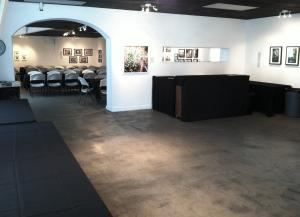 50% off for Events with Under 25 Guests: $550 for 5 hours**, Gallery Black Lagoon, Austin — front room - used for food and bar area.