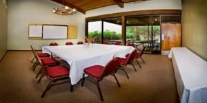Primrose, T Bar M Resort Hotel & Conference Center, New Braunfels — Primrose welcomes you on the Chuckwagon porch, making this room an exclusive venue for private meetings. Primrose is ideal for groups of 18 to 40.