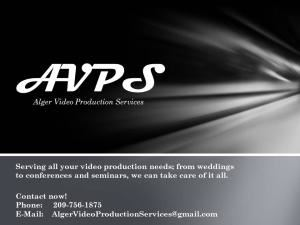 Alger Video Production Services, Fresno