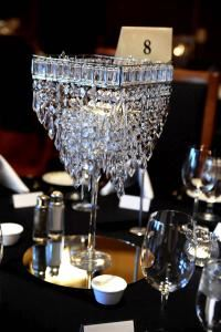 Table Chandelier Centerpiece (Rental) **4 Tables, Creating A Remarkable Event, Fontana