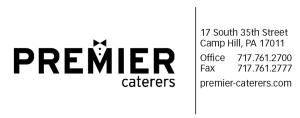 Premier Caterers, Camp Hill