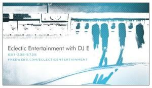 Eclectic Entertainment with DJ E
