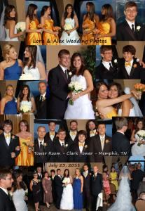 Economy Photography Package, BIZ - Wedding Photography & Video, Collierville — This is a colage of photos of one wedding