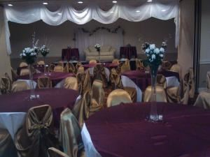 Regency 2 and 3, Days Inn Birmingham, Birmingham — Regency 2 and 3 set up by our event planner for a Wedding