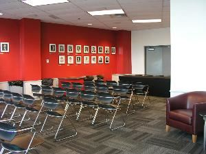 Fred Taylor Room, Value City Arena - Jerome Schottenstein Center, Columbus — Fred Taylor Room set for a press conference.