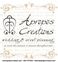 Midnight Package - Full Wedding Planning, Apropos Creations, LLC, Chandler — Apropos Creations