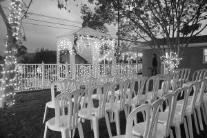Avon Gardens Event Center, Riverside — Garden Area Setup for Wedding