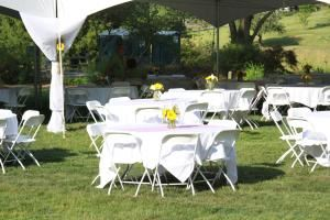 Events Terrace Outdoor Reception, The Dawes Arboretum, Heath — Tented Reception